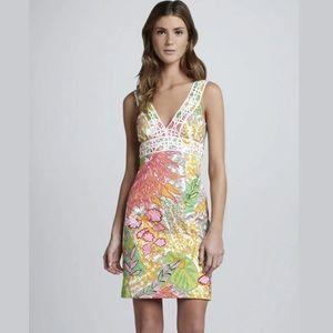 Trina Turk Sz 4 Secret Printed Shift Floral Dress
